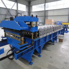 Metal step tile roof machine
