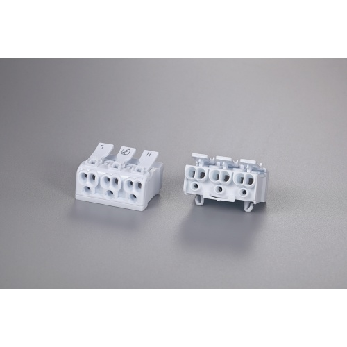 3 Poles Multipolar Wire Connector With Fixed Foot