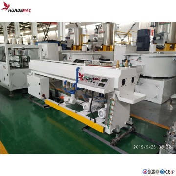 Two cavity PVC pipe extrusion line