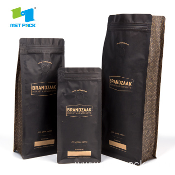 Box Pouch Kraft Paper Bag Coffee Foil Packaging