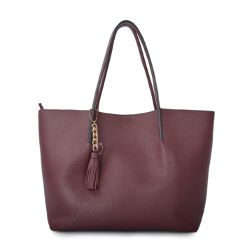 Burgundy shoulder bag for ladies