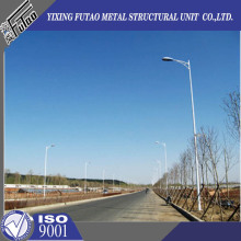Galvanized solar power energy street light pole lamp