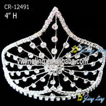 4 Inch rhinestone wholesale pageant crowns