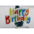 Colorful Happy Birthday Letter Candles