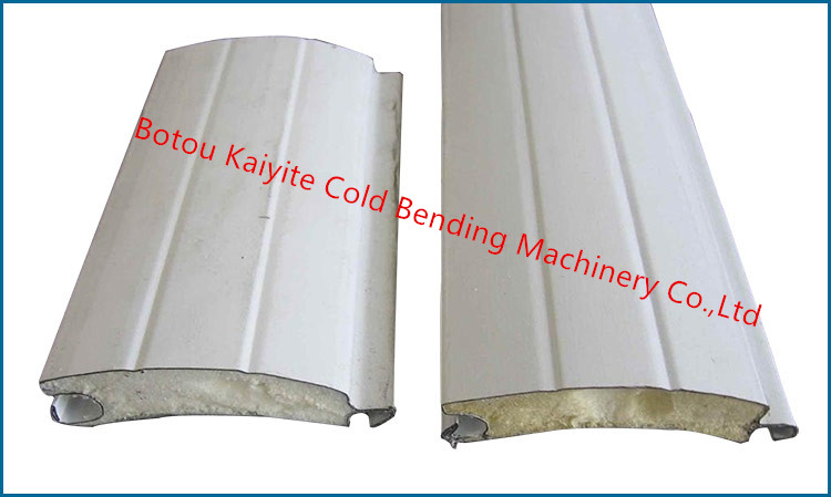 Galvanized Steel Aluminum Pu Foam Shutter Door Roll Forming Machine