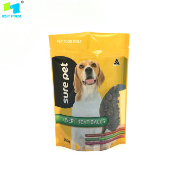 Customized Printed Pet Food Stand up Ziplock Bag
