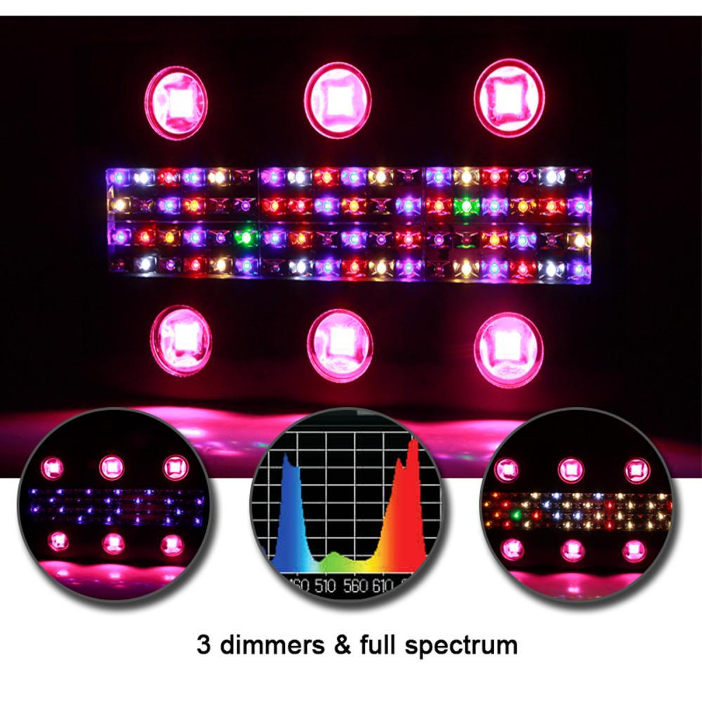 Three Dimmers 900w Noah6 LED Grow Light