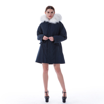 Fashion Winter Blue Fur Coat