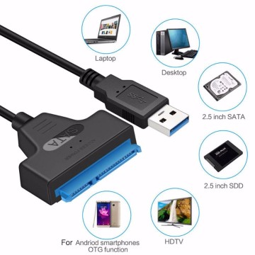 20cm USB 3.0 SATA III Cable Sata to USB Adapter Support 2.5inches External SSD HDD Hard Drive 6Gbps 22 Pin Sata3 Cable Converter