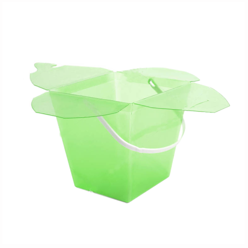 blue packaging bucket fodable clear plastic gift box