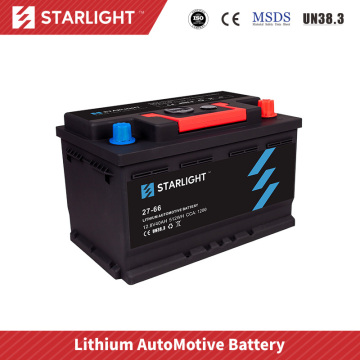 12V 27-66 Lithium Ion Car Battery/LiFePO4 Battery