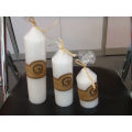 Pearl white white church candle