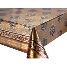 Double Face Emboss printed Gold Silver Tablecloth Kohls