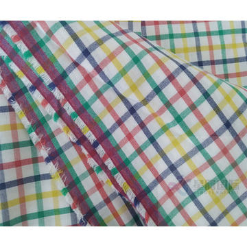 Colorful Cotton Plaid Yarn Dyed Fabric For Shirts