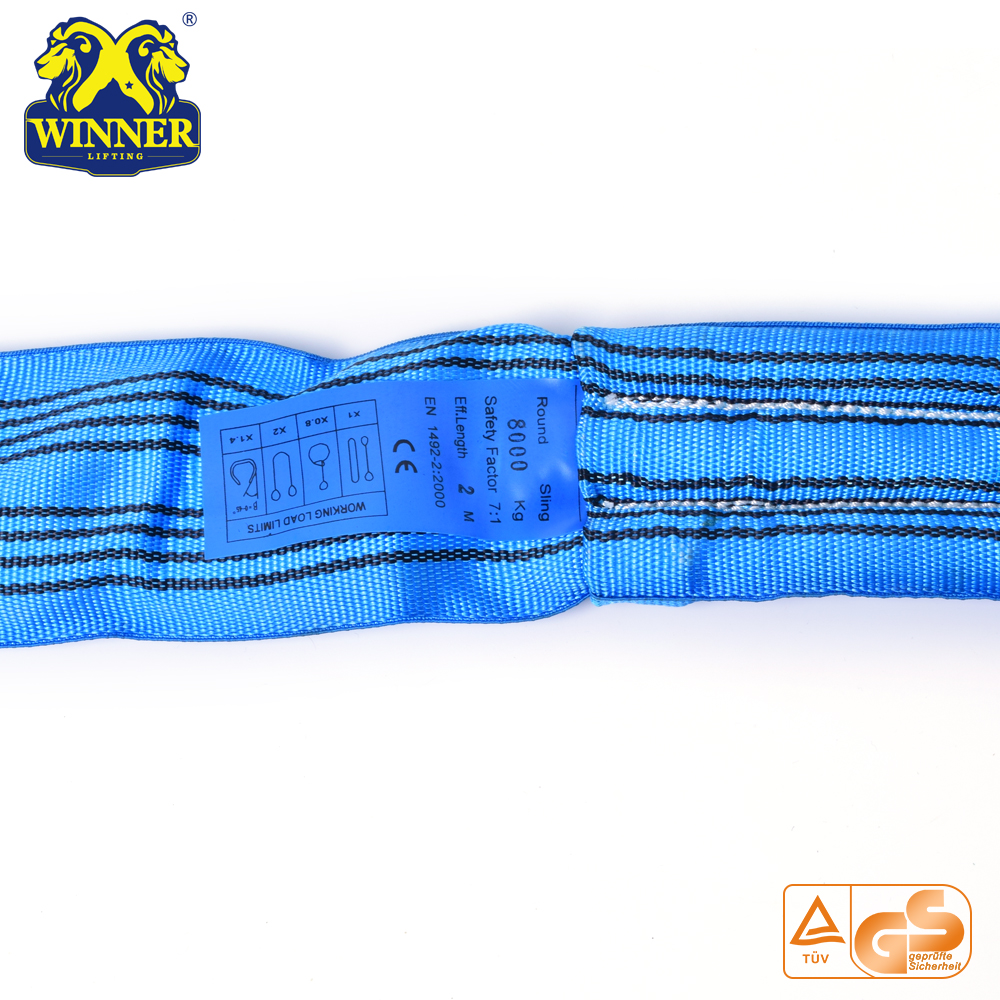 Heavy Duty 8T Polyester Round Sling Lifting Belt Sling