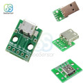 5Pcs Mini Micro USB to DIP Adapter Converter Type A Female Male USB Adapter 2.54mm PCB Board Connector DIY Electronic
