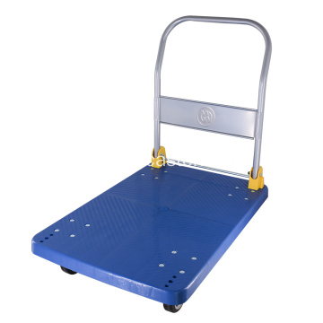 400kg Blue Foldable Platform Trolley hand Food Cart
