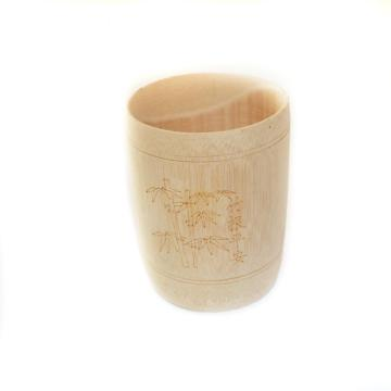 Custom Logo Toothbrush Wooden Cup