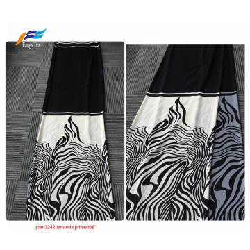 Black-out 100% Polyester Nida Printed Abaya Fabric