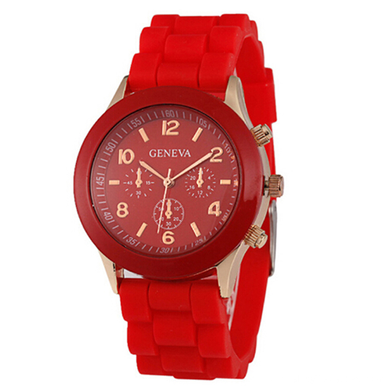 2016 vogue colorful silicon quartz watch