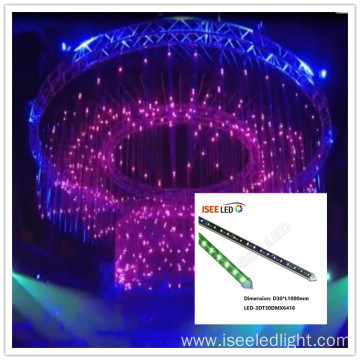 DMX 3D LED Tube for Disco ceilings