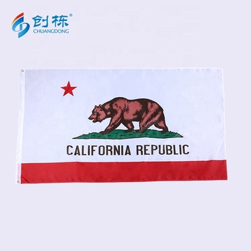Good quality new style wholesale california flag