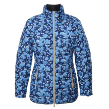 Ladies printed padding jacket flower pattern