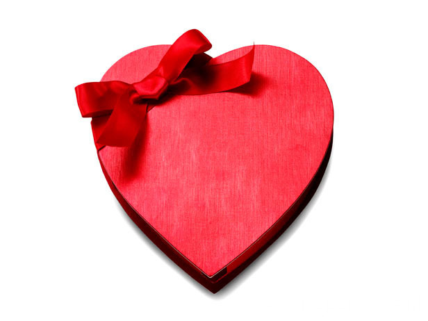 Empty Heart Shape Chocolate Gift Boxes Packaging