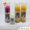 Church religious print logo glass candle jars