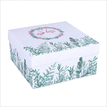 Cosmetic Packaging Flat Pack Recycled Paper Gift Box