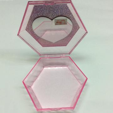 Plastic hexagonal storage box with mirror