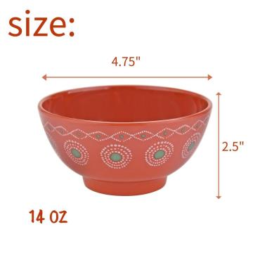 "5"" Melamine Deep Bowl Set of 6"