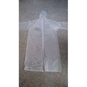 100% pvc beautiful waterproof adult rain poncho