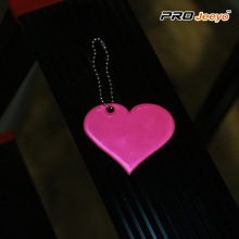 Pink Heart Shape Love PVC Pendant
