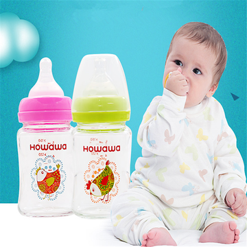 150ml Glass Baby Feeding Bottle Without Handle