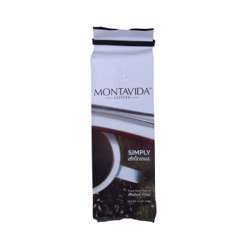 Customized Printed Aluminum Foil Side Gusset Tin Tie Coffee Bag