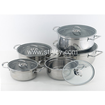Korean Style Multiclad Stainless Steel Cookware Set