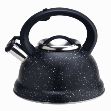 Stainless steel stovetop coffee kettle with induction bottom