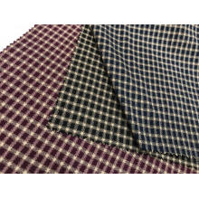 T/C Oxford Woven Yarn-dyed Dobby Plaid Fabric