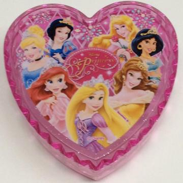 Plastic mini Disney heart shaped storage box