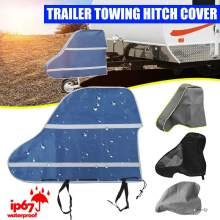 Universal 420D Waterproof Caravan Trailer Towing Hitch Cover Tow Ball Coupling Lock Covers Dustproof For RV Motorhome