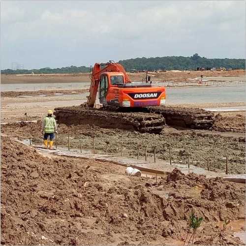 10t Crawler Digger Machine Amphibious Excavator for Sale