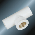 DINPN10 Water Supply Upvc Female Tee Brass White