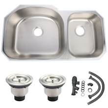 undermount stainless steel big double bowl kitchen sink
