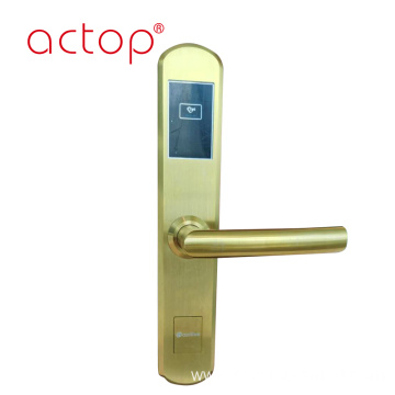 Metal door lock handle for hotel