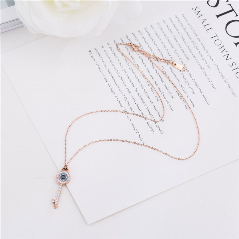 Wholesale Key Jewelry Necklace Rose Gold With Diamonds