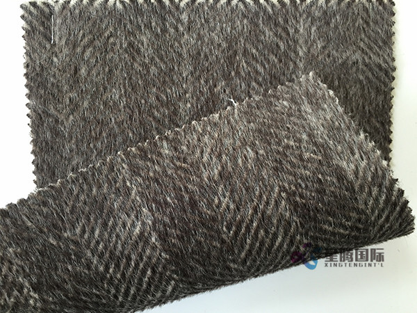 Herringbone Design Woolen Fabric
