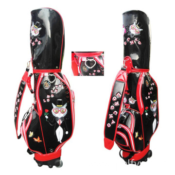 Deluxe PU Golf Bag with Zipper Pockets