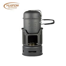 Outdoor Alcohol Stove Hard Anodized Aluminum Mini Burner