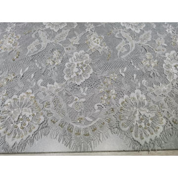 100%Nylon Bead Pipe Embroidery Lace Fabric